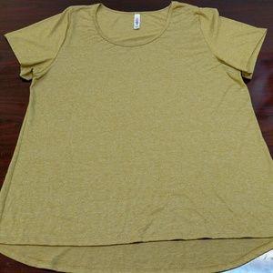 LuLaRoe Short Sleeve Shirt Gold 2XL